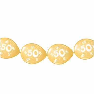 Ballonnen om slingers mee te maken goud 50 jaar