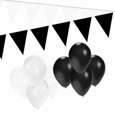 Zwart/witte versiering pakket small